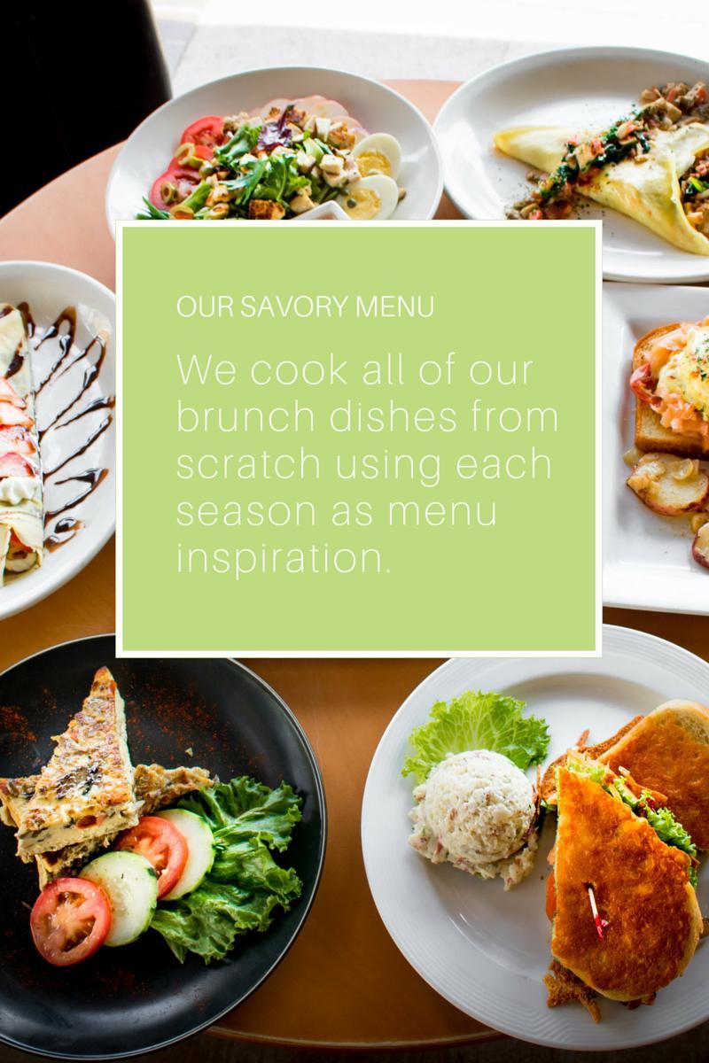 our savory menu