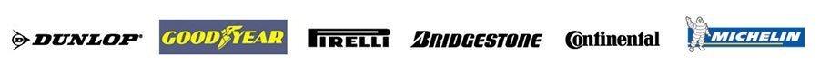 DUNLOP GOODYEAR BRIDGESTONE logos