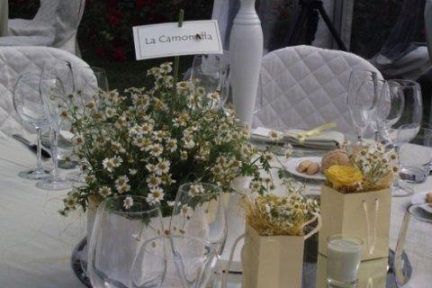 allestimento tavoli nozze