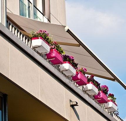 Tende da sole su un balcone