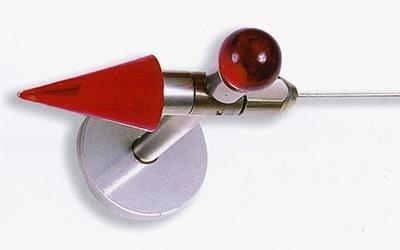 bastone per tenda con ganci in acciaio