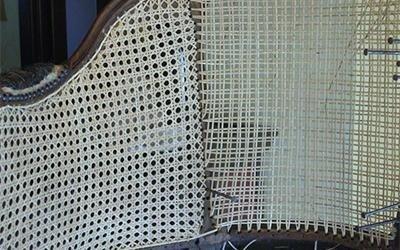 sedia con impagliatura artigianale