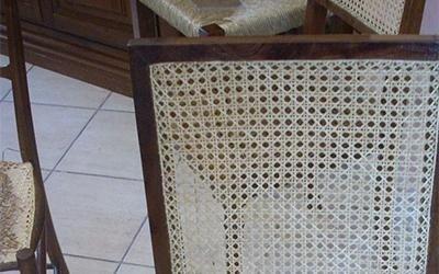 schienale impagliato di una sedia