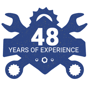 48 years of experience icon