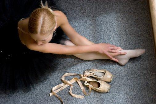 Dancer Stretching in Hamburg, NY