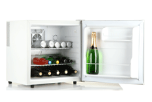 A small drinks fridge