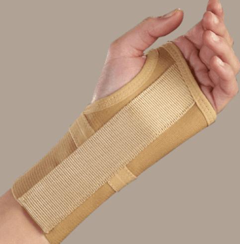 Tutore elastico per polso con stecca