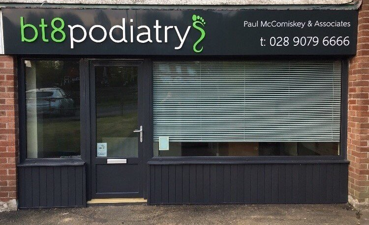 outside view of the bt8podiatry store