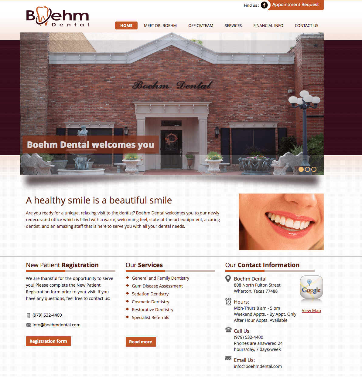Boehm Dental website