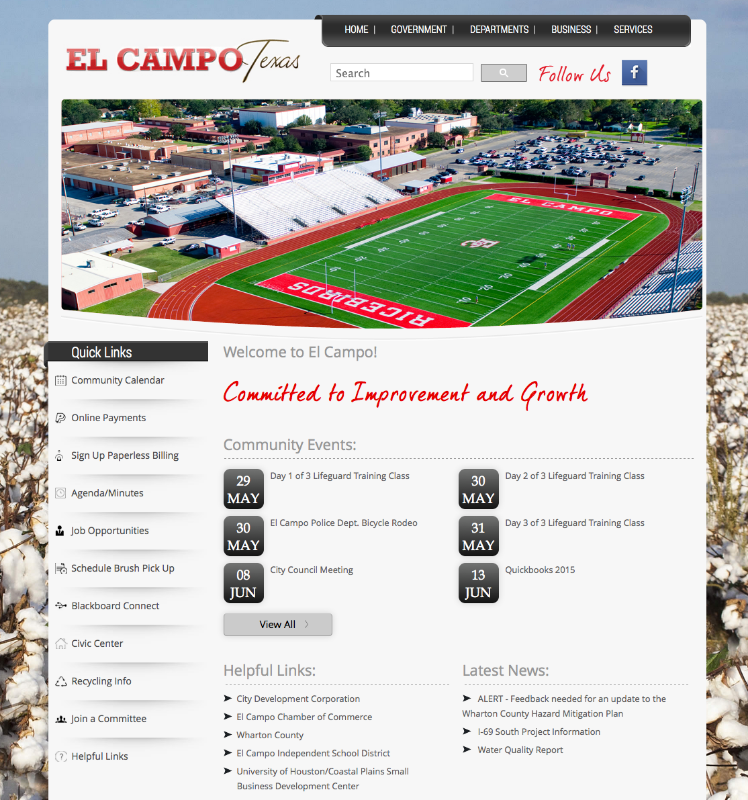 City of El Campo website