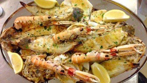 Piatto di frutti di mare alla brasa