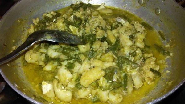 Baccalà al curry