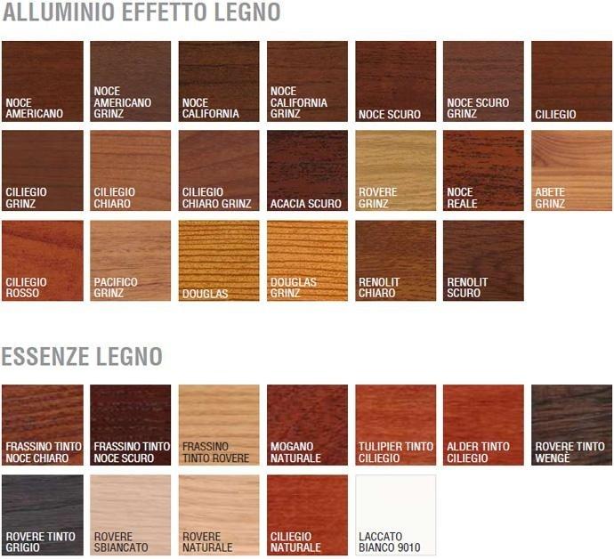 serramenti legno-alluminio varietà