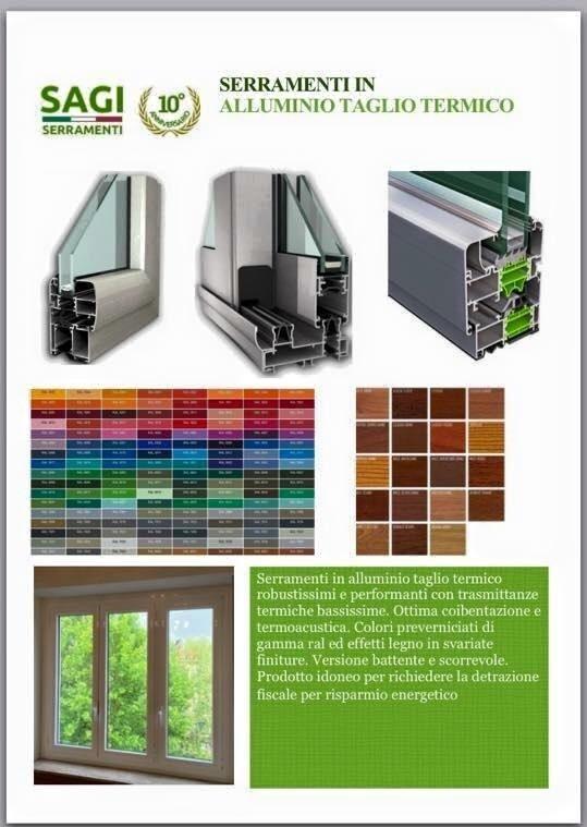 serramenti alluminio taglio termico