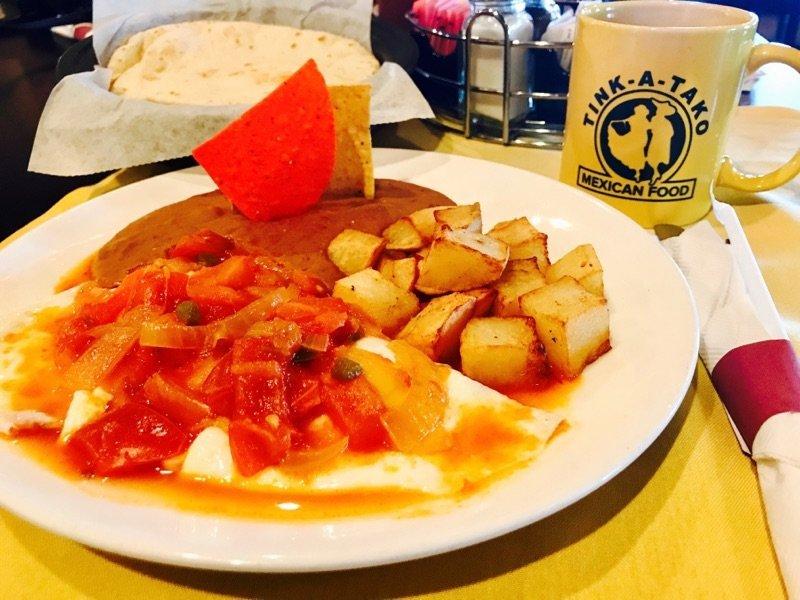 Delicious breakfast tacos
