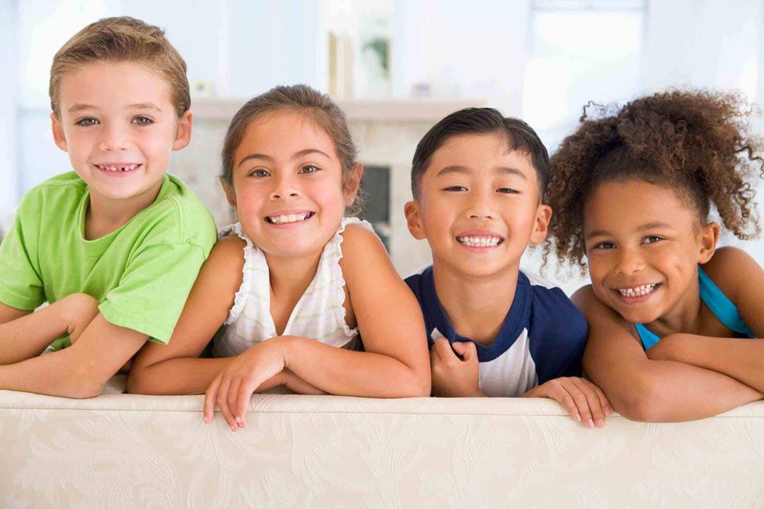 kids smiling together
