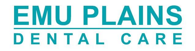emu plains dental care logo with business name