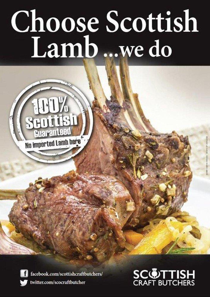 View of Scottish lamb