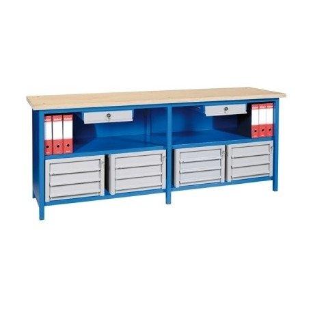 banco vendita con cassettiere