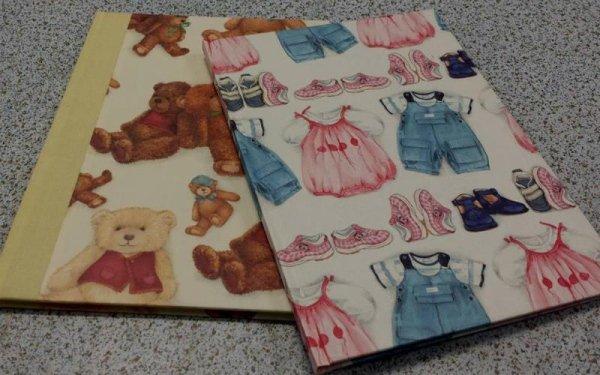 agende decorate con orsacchiotti e vestiti per bambini disegnati