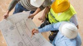 edilizia, lavori su disegno, edilizia industriale