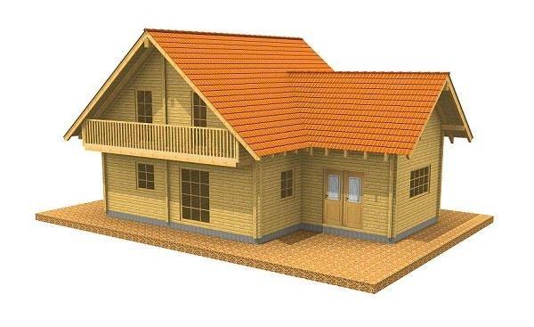 Casa in legno modello ENNIA