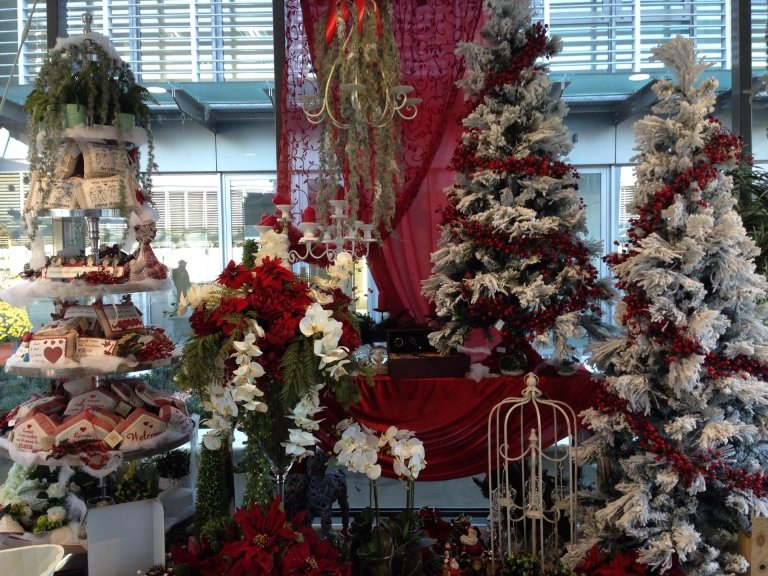 allestimenti floreali natalizi