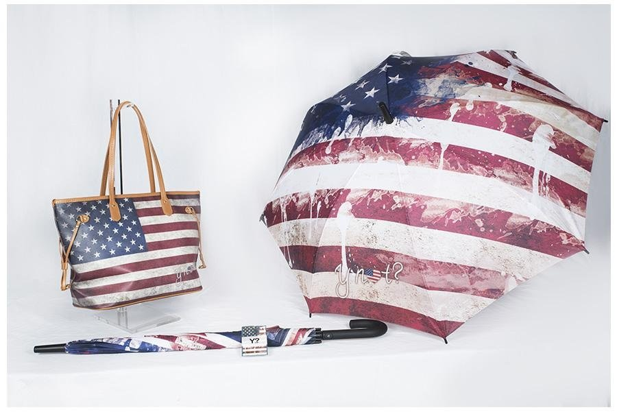 Ombrello e borsa coordinata america