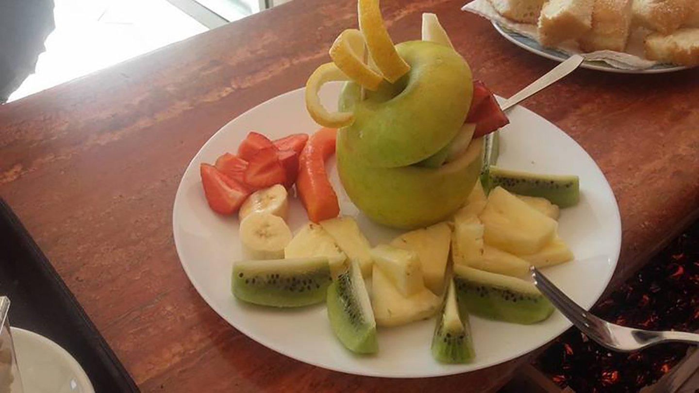 frutti decorazione in un piatto