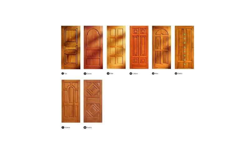 Copertura in legno porta