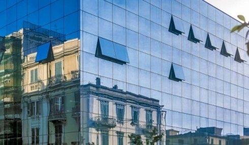 facciata continua vetro