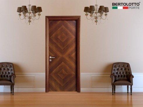 porte in legno di noce, porte con intarsi in legno, porte per interni