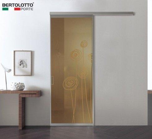 porta in vetro, porta con decori su vetro, porta decorata