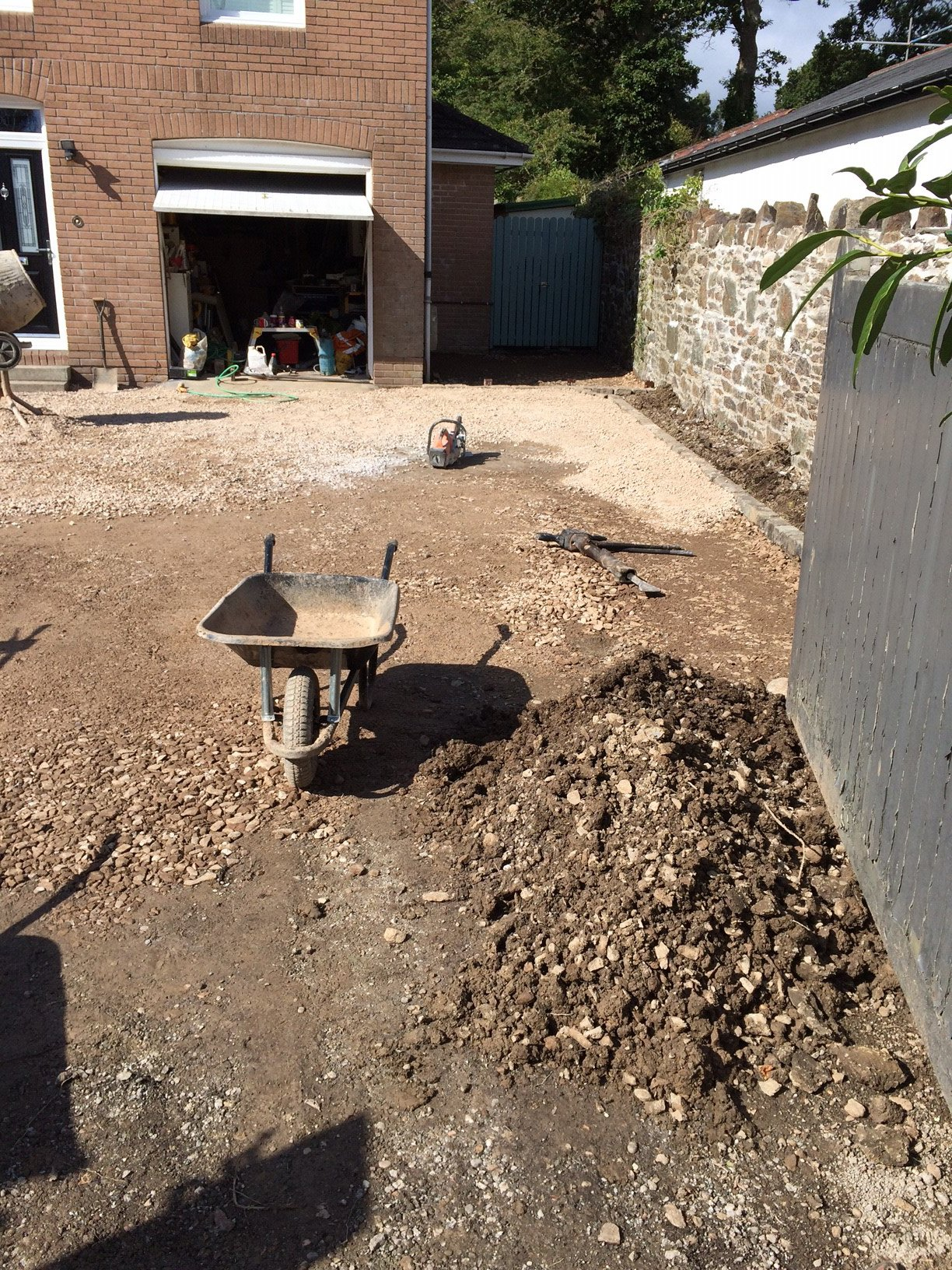 paving fitting area