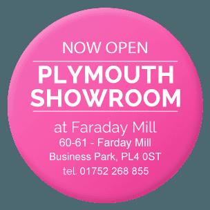 Plymouth showroom at Faraday Mill