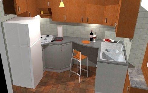progettazione piano base piccola cucina in alloggio)
