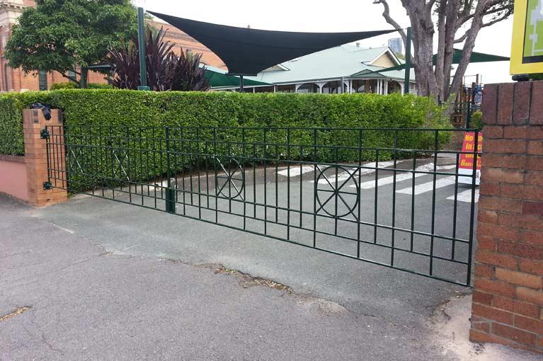 sureline fencing steel gates