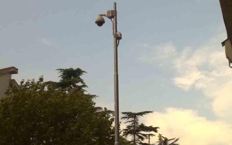 La telecamera dello stadio comunale