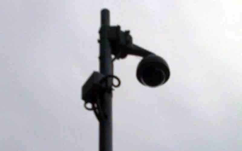 La telecamera dello stadio comunale vista da vicino