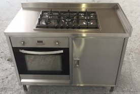 stainless steel oven and hob