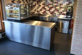 stainless steel cabinet and racks