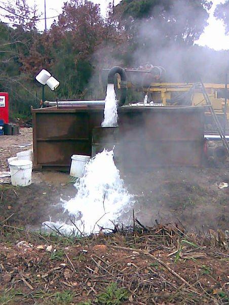 costruzione di un pozzo artesiano di uso termale