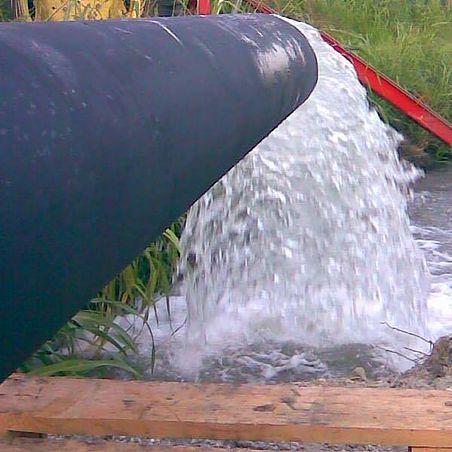 un condotto da dove esce dell'acqua