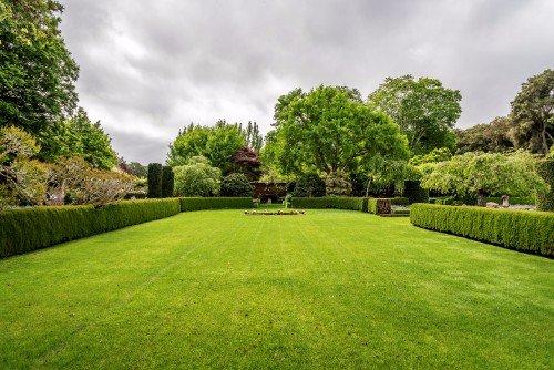 giardino esterno delimitato da aiuole