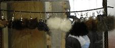 orecchini in pelliccia, gioielli in pelliccia pisa