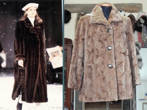 Cappotto di visone e giacca di ritaglia di visone