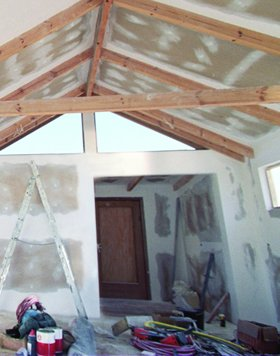 plasterer - Guildford - John Gibb Plastering Ltd - building site