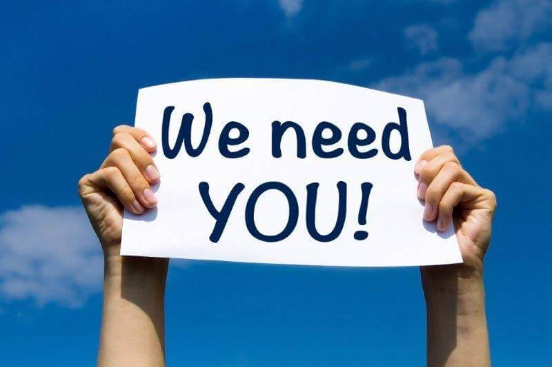 we need you sign