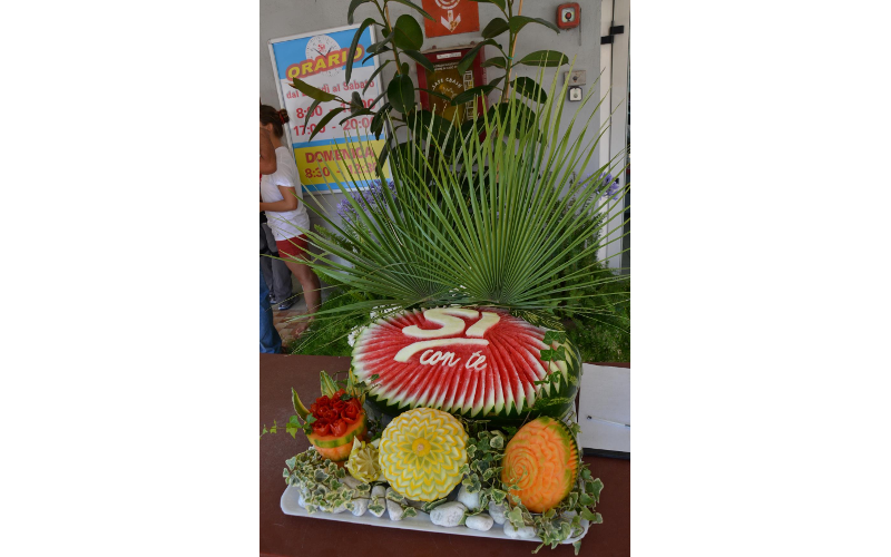 Decorazione con la frutta