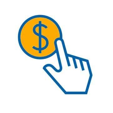 hand dollar sign icon